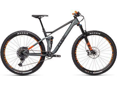 Cube Stereo 120 HPC TM 29 2021, flashgrey´n´orange - Mountainbike