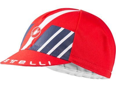 Castelli Hors Categorie Cap red/dark infinity blue/white