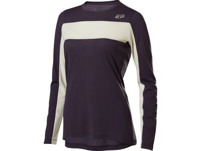 Fox Womens Ranger Drirelease LS Jersey, dark purple - Radtrikot