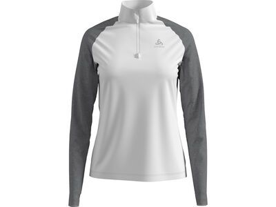 Odlo Midlayer 1/2 Zip Planches white/grey melange