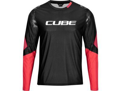 Cube Edge Rundhalstrikot langarm, black´n´red - Radtrikot
