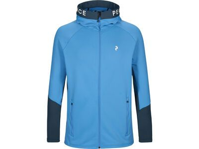 Peak Performance Rider Zip Hood, blue elevation - Fleecejacke
