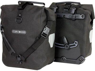 Ortlieb Sport-Roller High Visibility (Paar), black reflective - Fahrradtasche