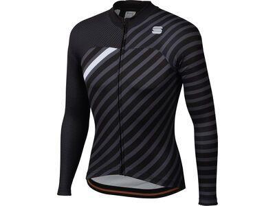 Sportful Bodyfit Team Winter Jersey, black/anthracite/white - Radtrikot