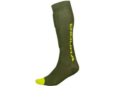 Endura SingleTrack Shin Guard Sock forest green