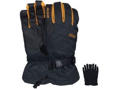 POW Gloves Warner Gore-Tex Long Glove + Merino Liner, tobacco - Snowboardhandschuhe