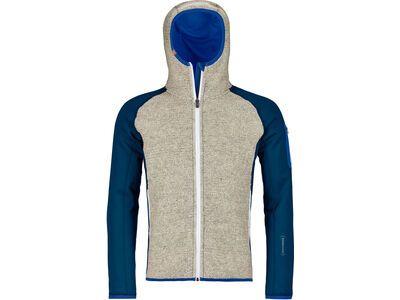 Ortovox Merino Fleece Plus Classic Knit Hoody M petrol blue
