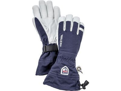 Hestra Army Leather Heli Ski 5 Finger navy