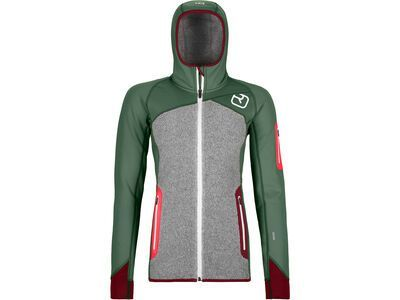 Ortovox Merino Fleece Plus Hoody W, green forest - Fleecehoody