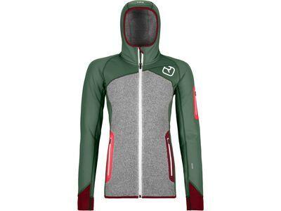 Ortovox Merino Fleece Plus Hoody W, green forest - Fleecehoody