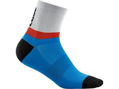 Cube Socke Mid Cut Teamline, blue´n´red´n´grey - Radsocken