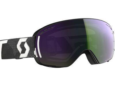 Scott LCG Compact inkl. WS, black wihite/Lens: enhancer green chrome - Skibrille