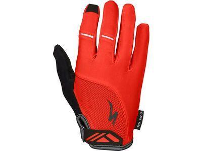 Specialized Women's Body Geometry Dual-Gel Long Finger, red - Fahrradhandschuhe