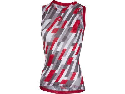 Castelli Pro Mesh W Sleeveless, white/red/anthracite - Unterhemd