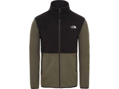The North Face Men's TKA Glacier Full Zip Jacket taupe green/tnf black