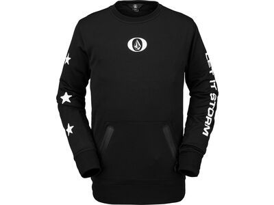 Volcom Let It Storm Crew Fleece, black - Fleecepullover