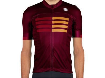 Sportful Wire Jersey red wine red rumba gold