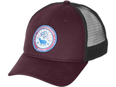 Ortovox Stay In Sheep Trucker Cap dark wine