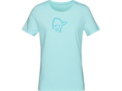 Norrona /29 cotton logo T-Shirt (W), aqua splash - T-Shirt