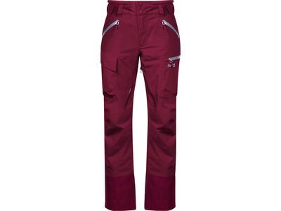 Bergans Hafslo Insulated Lady Pant, beet red/silver grey - Skihose