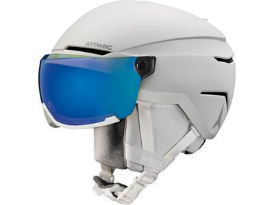 Atomic Savor Visor Stereo, white heather - Skihelm