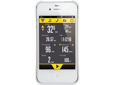 Topeak RideCase iPhone 4/4s, white - Schutzhülle