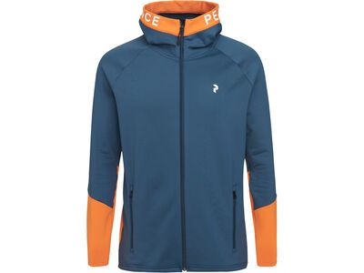Peak Performance Rider Zip Hood, blue steel - Fleecejacke