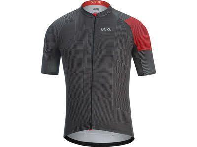 Gore Wear C3 Line Trikot, black/red - Radtrikot
