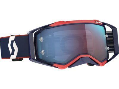 Scott Prospect Goggle Blue Chrome Works retro blue/red