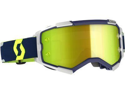Scott Fury Goggle Yellow Chrome Works blue/grey