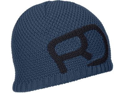 Ortovox Merino Rock'n'Wool Beanie M, blue lake - Mütze