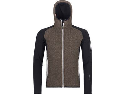 Ortovox Merino Fleece Plus Classic Knit Hoody M, black raven - Fleecehoody