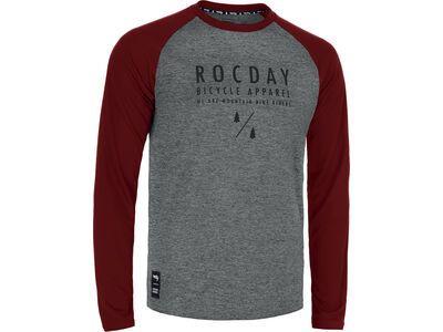 Rocday Manual Jersey melange / dark red