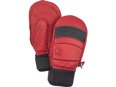 Hestra Leather Fall Line Mitt, rot/grau - Skihandschuhe
