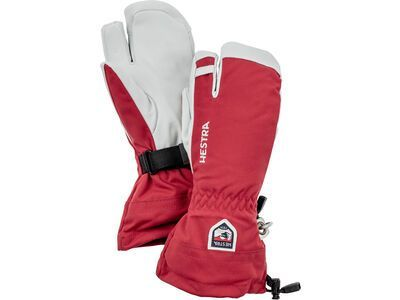 Hestra Army Leather Heli Ski 3 Finger, red - Skihandschuhe