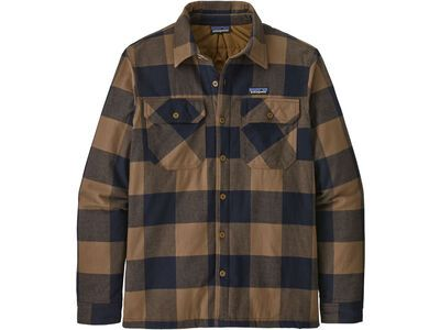 Patagonia Men's Insulated Organic Cotton Midweight Fjord Flannel Shirt timber brown