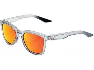 100% Hudson, transl. crystal grey/Lens: hiper red ml mir - Sonnenbrille