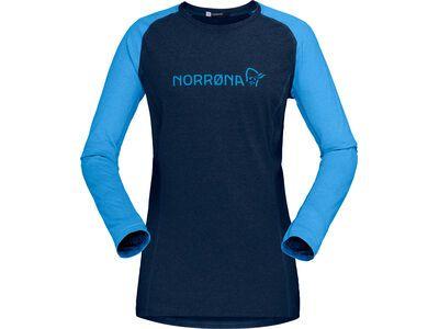 Norrona fjørå equaliser lightweight Long sleeve W's indigo night/campanula
