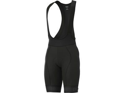 Ale Strada Bibshorts, black-charcoal grey - Radhose