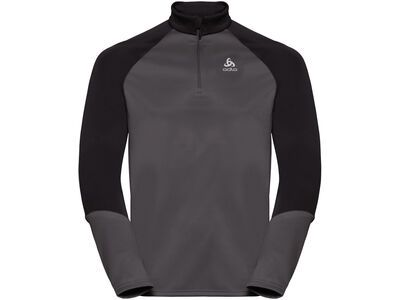 Odlo Men's Planches 1/2 Zip Midlayer, graphite grey/black - Fleecepullover