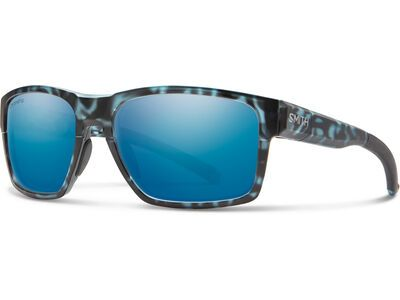 Smith Caravan Chromapop Polarized Blue Mirror matte black ice tortoise