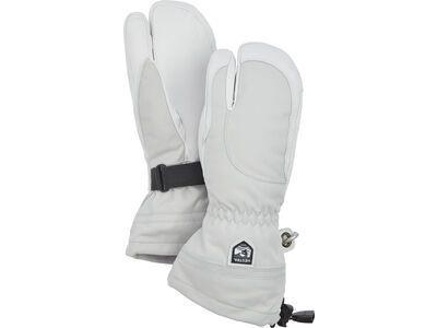 Hestra Heli Ski Female 3 Finger, pale grey/offwhite - Skihandschuhe
