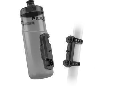Fidlock Twist Bottle 600 + Uni Base, transparent black - Trinkflasche