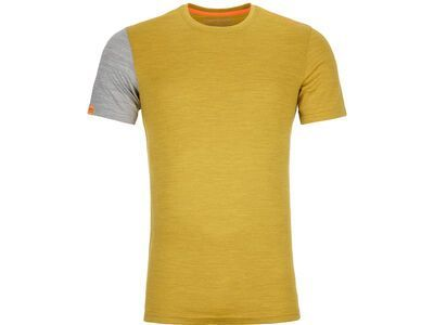 Ortovox 185 Merino Rock'n'Wool Short Sleeve M, yellow corn blend - Unterhemd