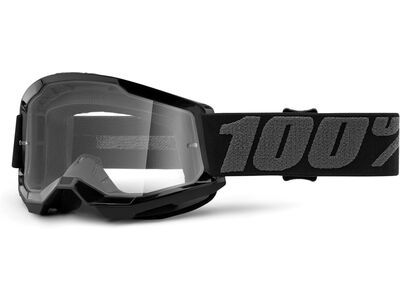 100% Strata Jr, black/Lens: clear - MX Brille