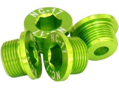 NC-17 M10 Kettenblattschraube für Sram 2-fach Kurbeln, green