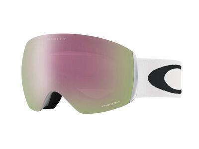 Oakley Flight Deck Prizm, matte white/Lens: hi pink iridium - Skibrille