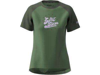 Zimtstern PureFlowz Shirt SS Women bronze green/forest night
