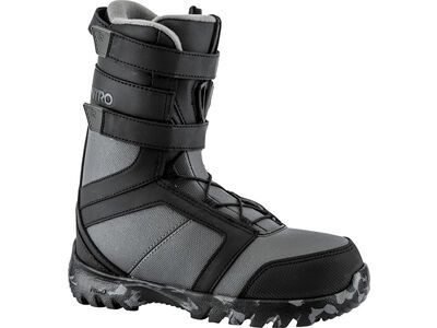 Nitro Rover Youth Re/Lace 2018, black/charcoal - Snowboardschuhe