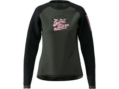 Zimtstern PureFlowz Shirt LS Women gun metal/pirate black